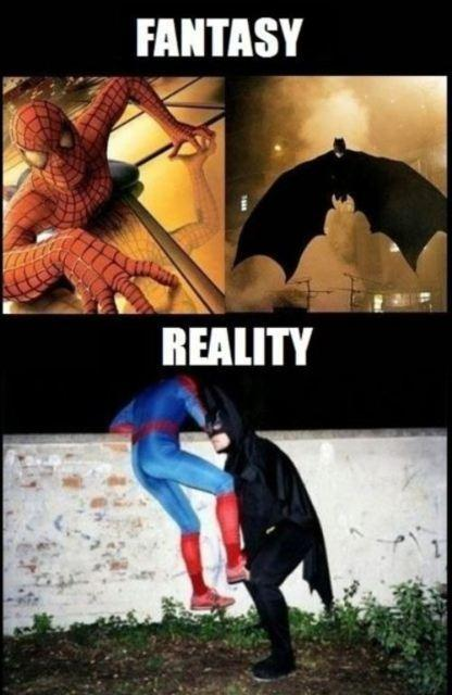 batman-spiderman-fantasy-reality